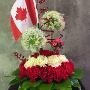Flowers arrangement Canada Day