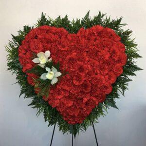 Sympathy casket flower arrangement