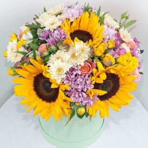sunflowers-hat-box