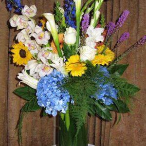 Sympathy flowers arrangement